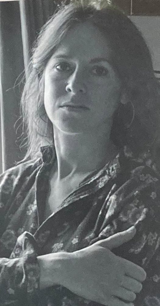 black and white portrait of Louise Glück